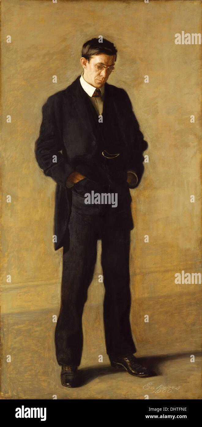 The Thinker: Portrait of Louis N. Kenton - by Thomas Eakins, 1900 - Stock Image