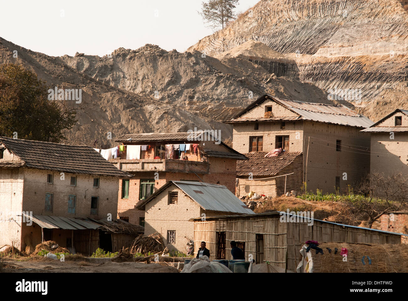 Land being plained in village of Bhaktapur - Stock Image
