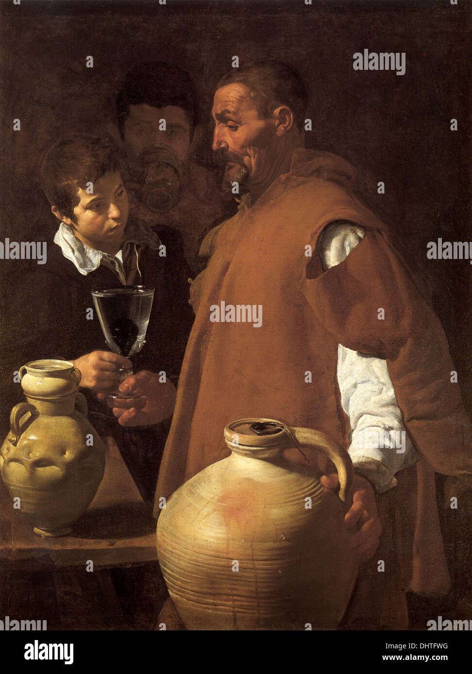 The Waterseller of Seville - by Diego Velázquez, 1622 - Stock Image