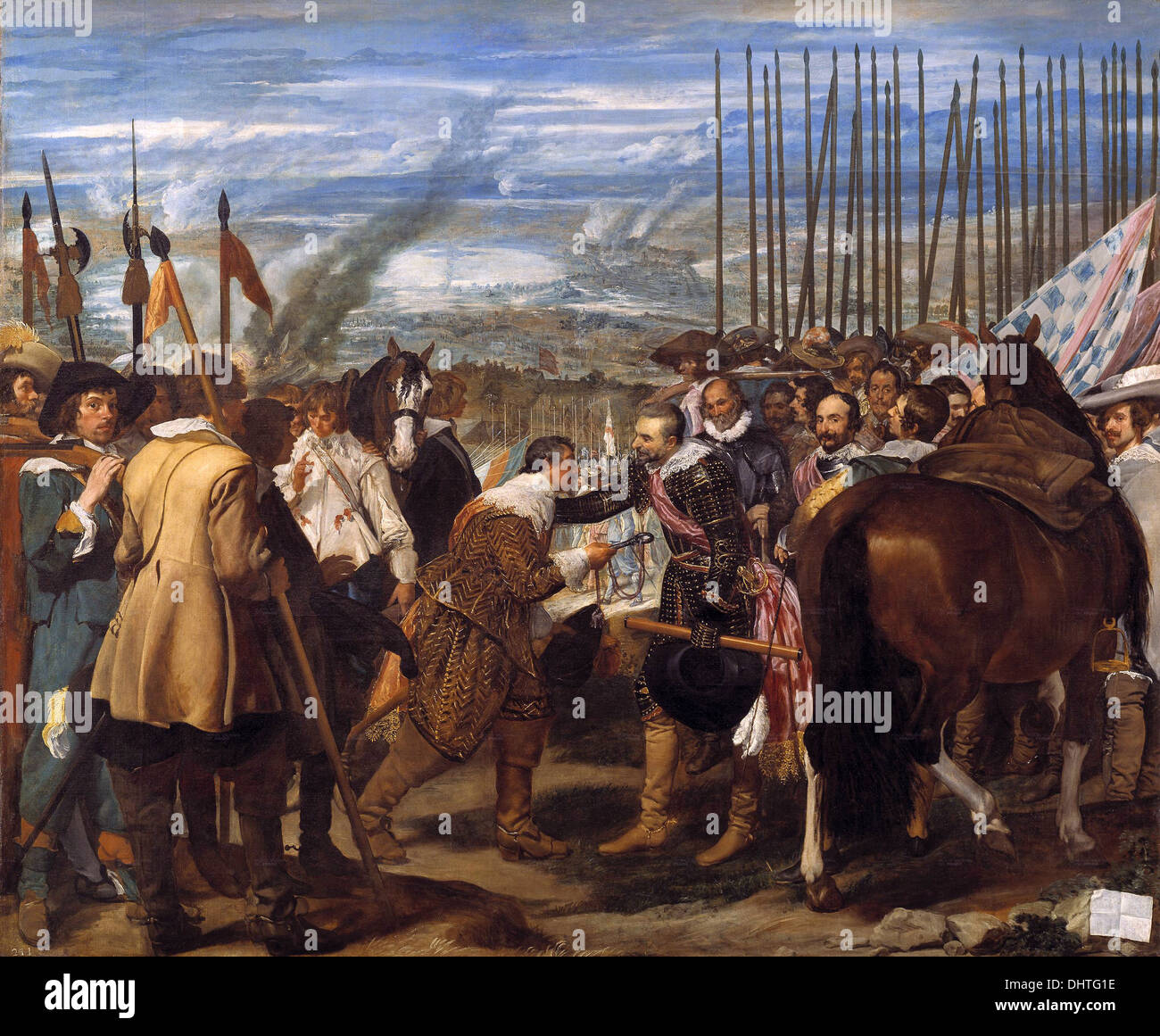 The Surrender of Breda - by Diego Velázquez, 1635 - Stock Image