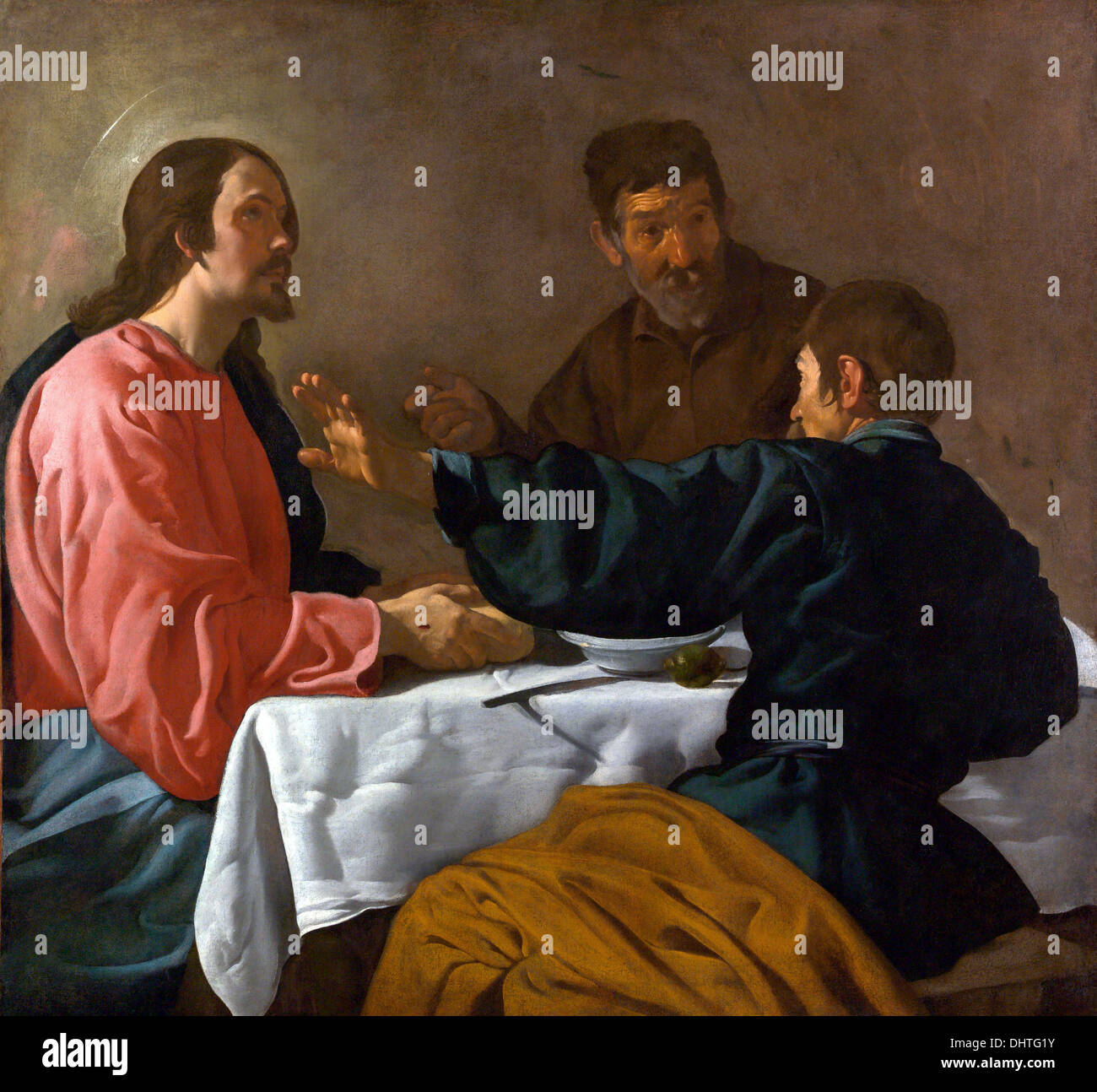 The Supper at Emmaus - by Diego Velázquez, 1623 - Stock Image
