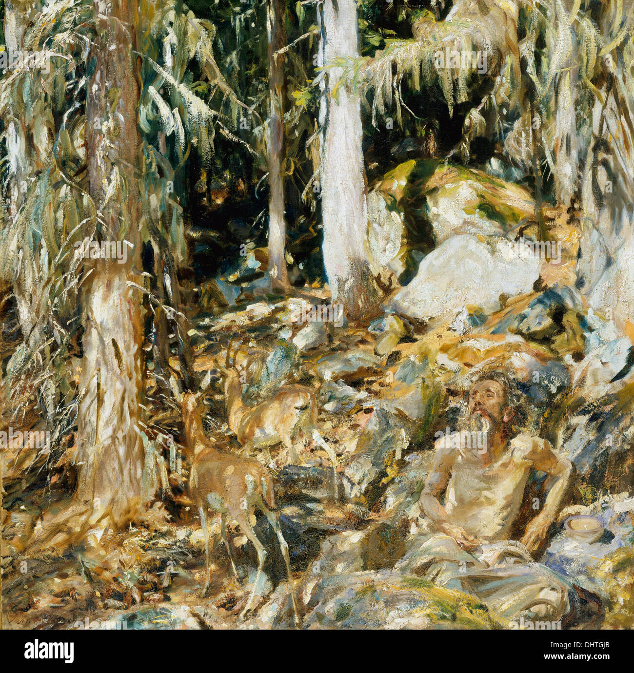 The Hermit ( Il solitario ) - by John Singer Sargent, 1908 - Stock Image