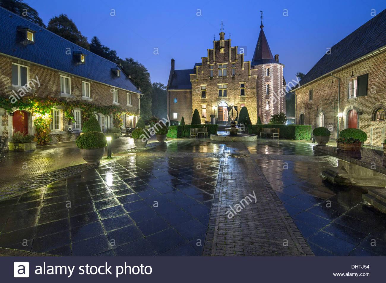 netherlands heerlen castle called terworm now hotel and stock photo 62621360 alamy. Black Bedroom Furniture Sets. Home Design Ideas