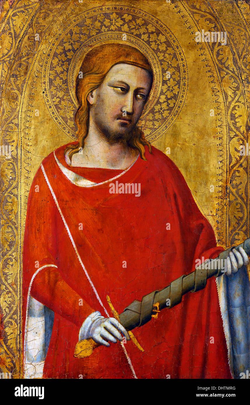 Saint Julian  - by Taddeo Gaddi, 1340 - Stock Image