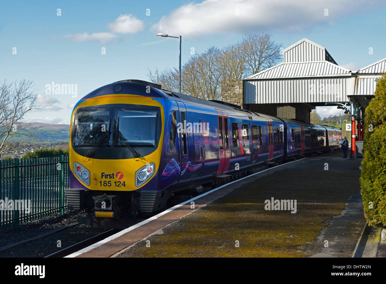 First Transpennine Express Class 185 at Oxenholme station. Cumbria, England, United Kingdom, Europe. - Stock Image