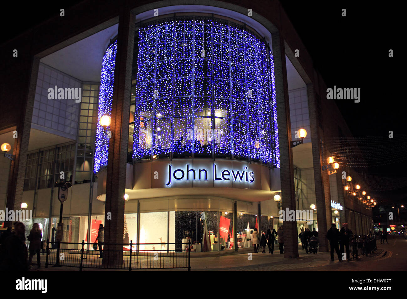 The Christmas lights at John Lewis in Kingston Upon Thames, SW Stock ...