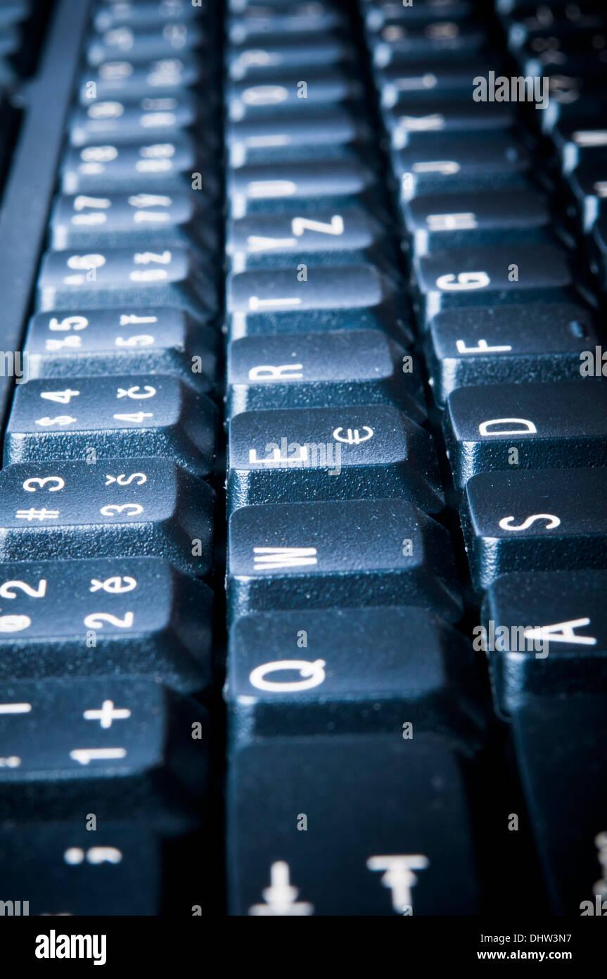 black computer keyboard - Stock Image