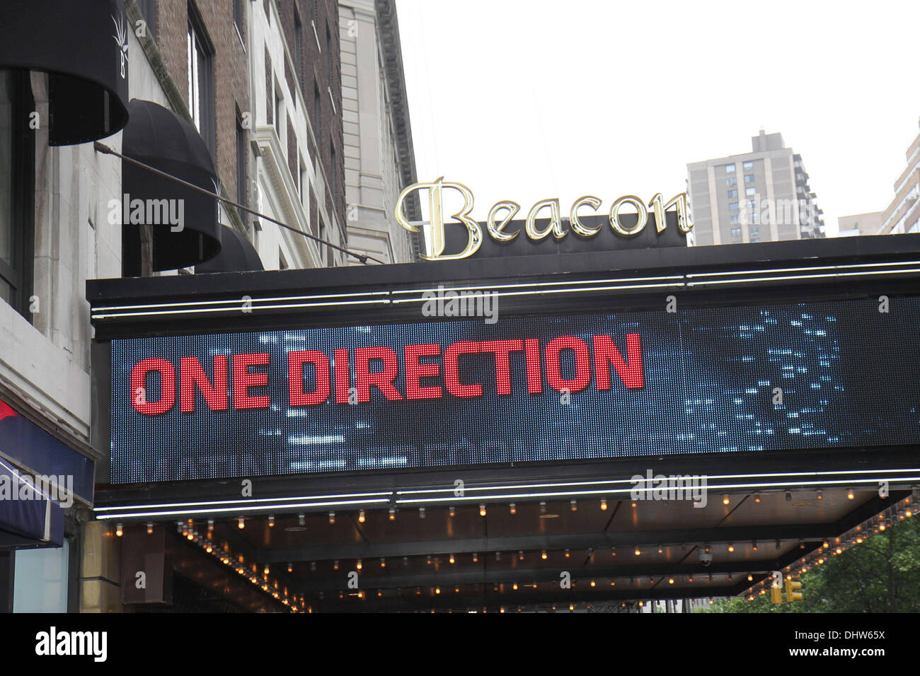 Hysterical fans at the Beacon Theatre for the sold out One Direction concert. New York City, USA - 26.05.12 - Stock Image