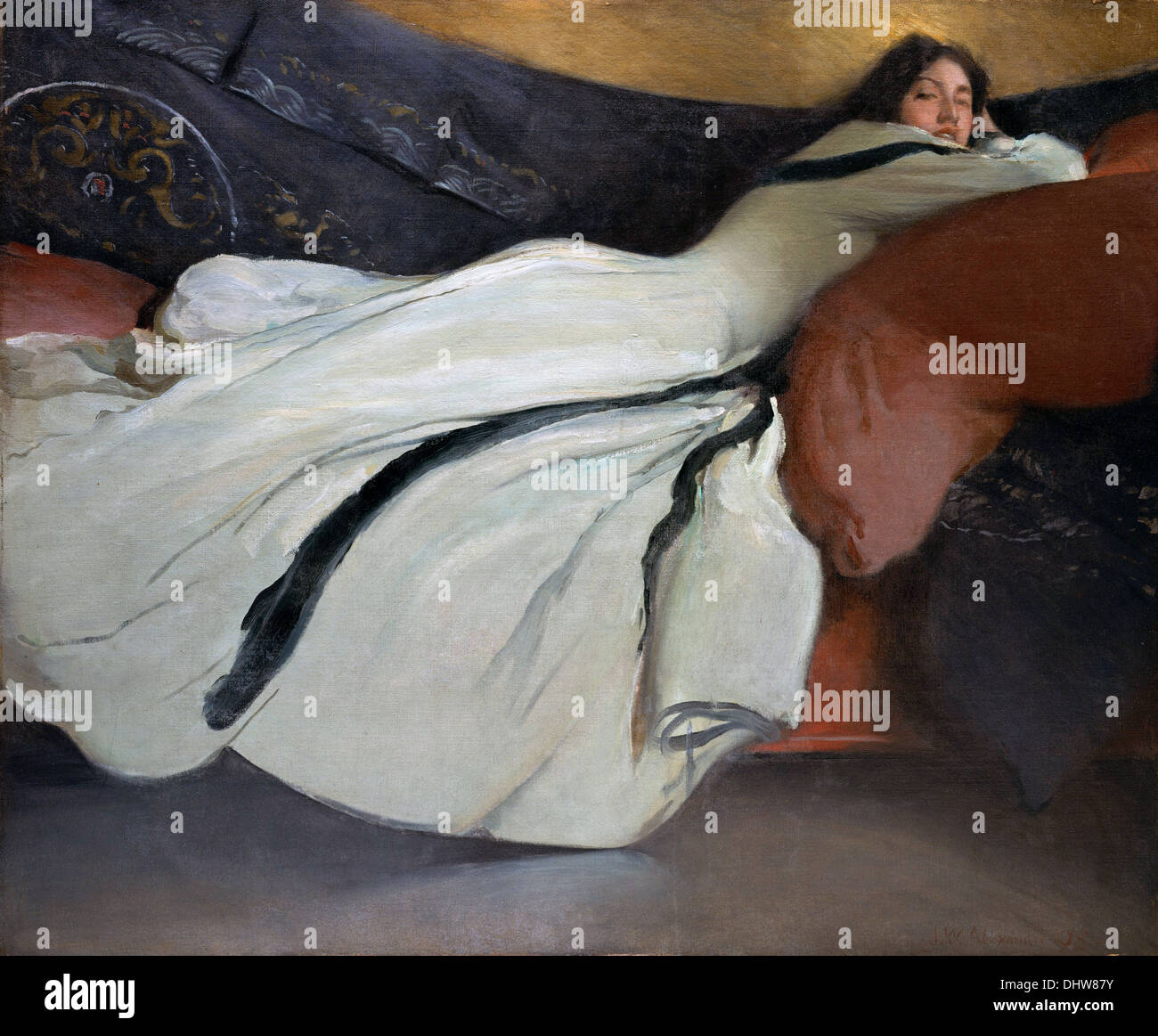 Repose - by John White Alexander, 1895 - Stock Image
