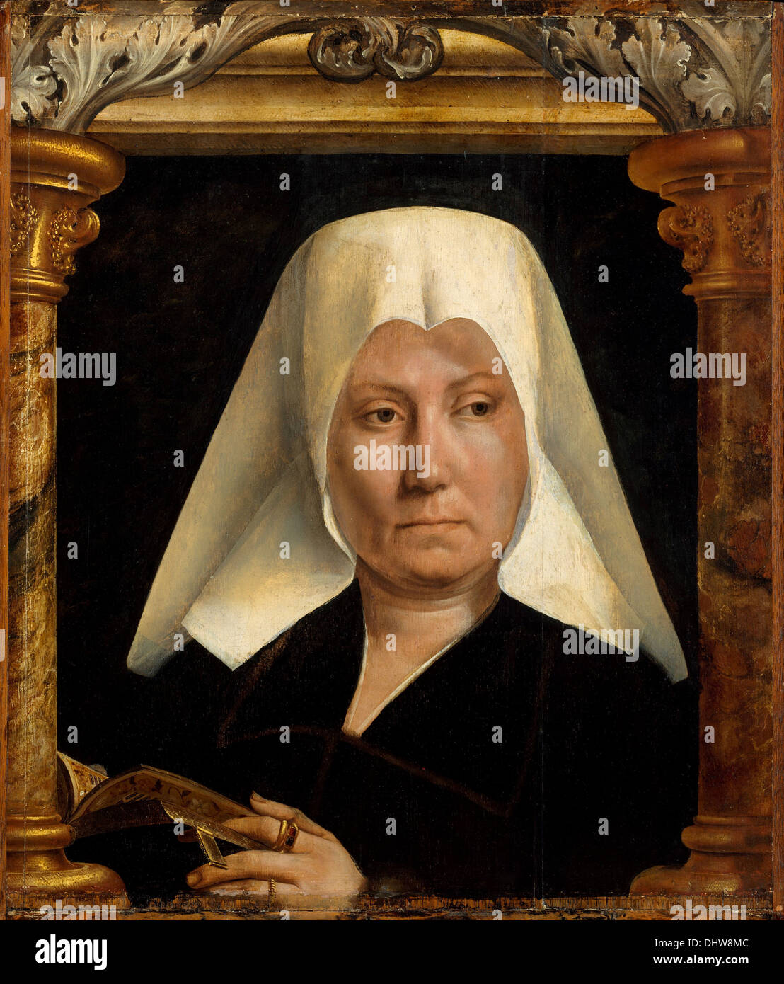 Portrait of a Woman  - by Quentin Metsys, 1520 - Stock Image