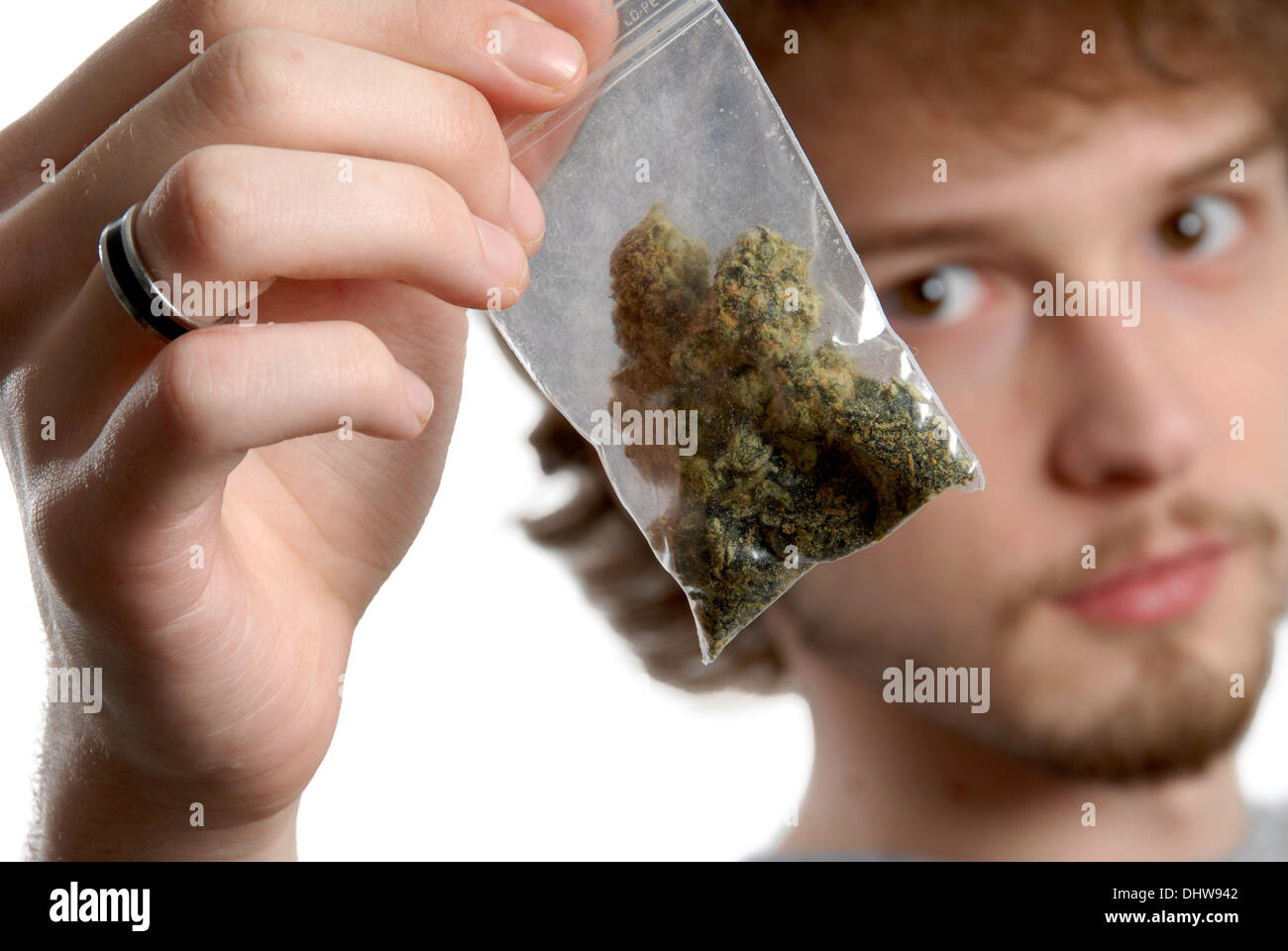 SUBSTANCE ABUSE, CANNABIS - Stock Image