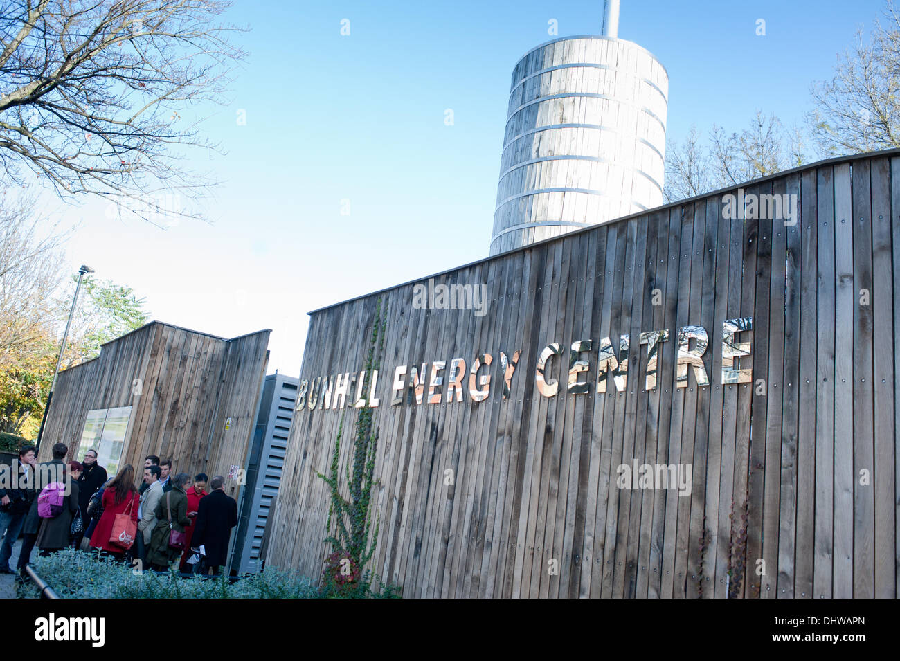 London, UK - 15 November 2013: Bunhill Energy Centre in Islington, an energy network scheme which supplies more than 700 local homes with cheaper, greener heating using waste heat from the Tube. Credit:  Piero Cruciatti/Alamy Live News - Stock Image
