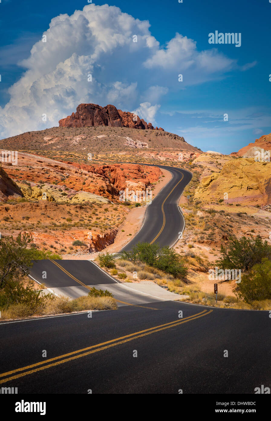 Valley of Fire State Park, Nevada - Stock Image