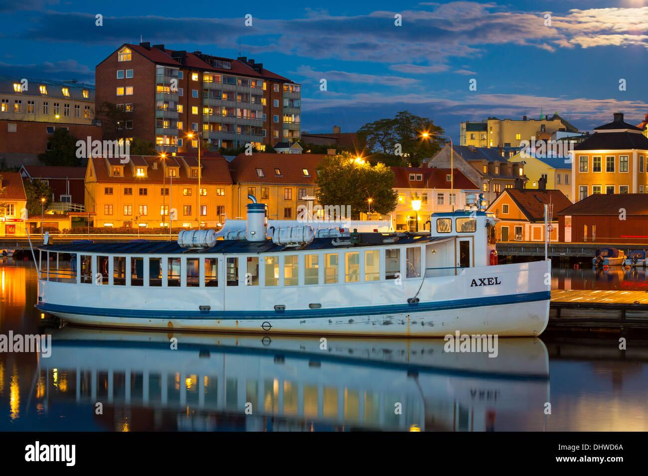 Vintage ferry 'Axel' in Karlskrona, Sweden - Stock Image