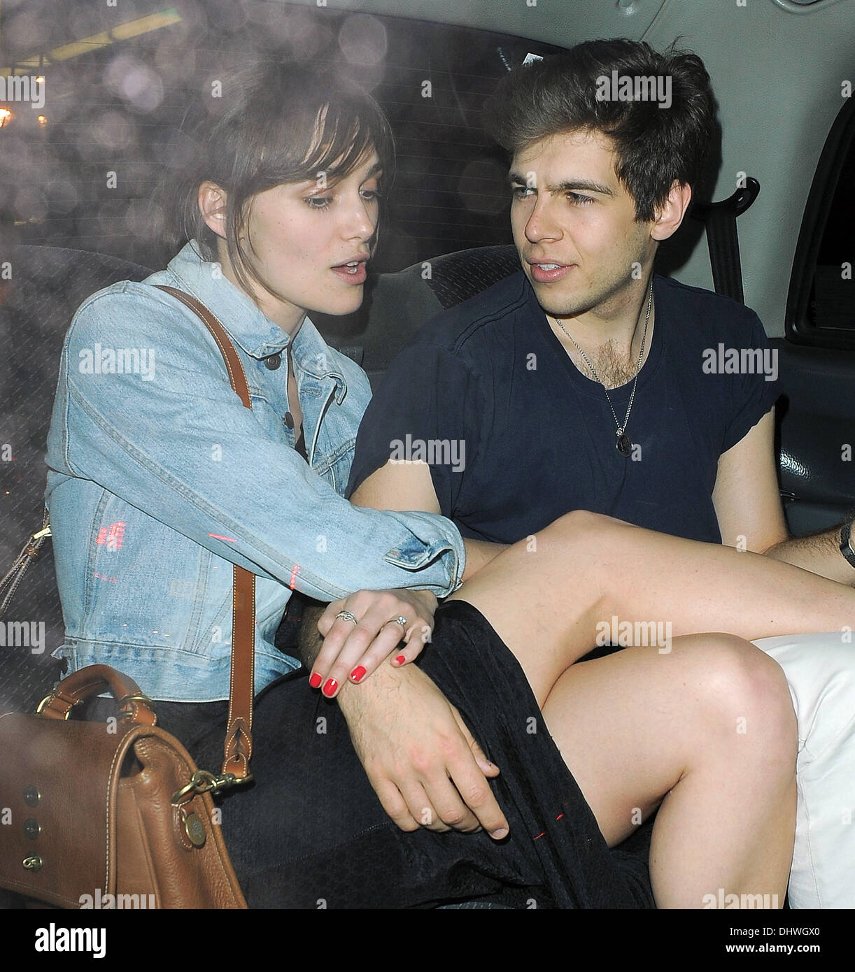 Newly engaged couple Keira Knightley and James Righton look