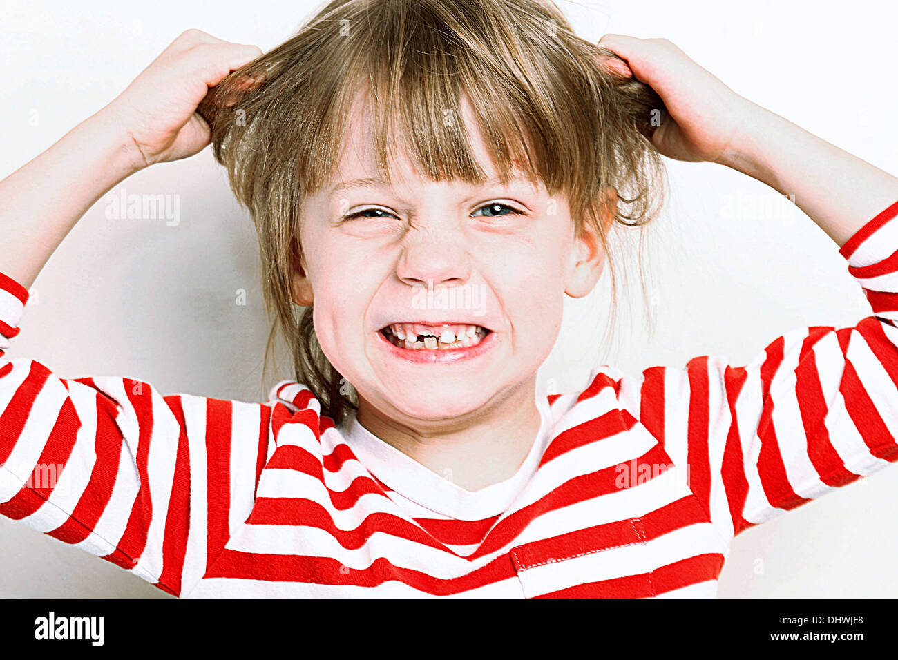 ANGRY CHILD - Stock Image