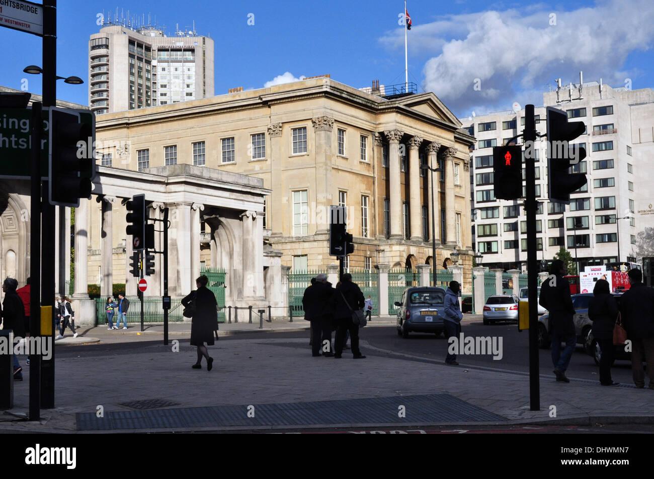 APSLEY HOUSE HYDE PARK CORNER LONDON UK - Stock Image