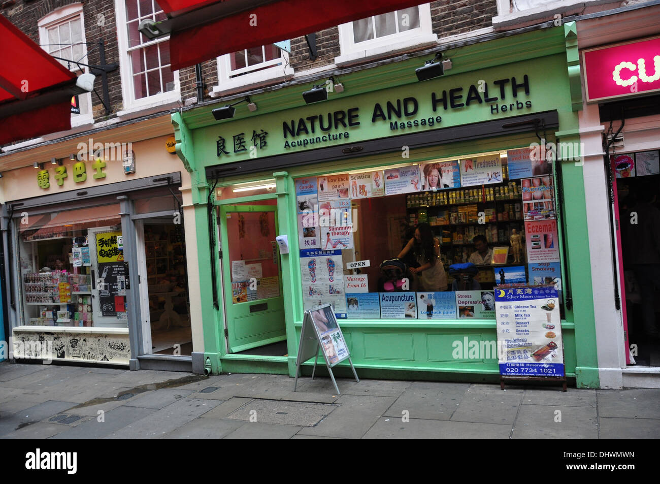 A NATURE & HEALTH SHOP CHINA TOWN LONDON UK - Stock Image