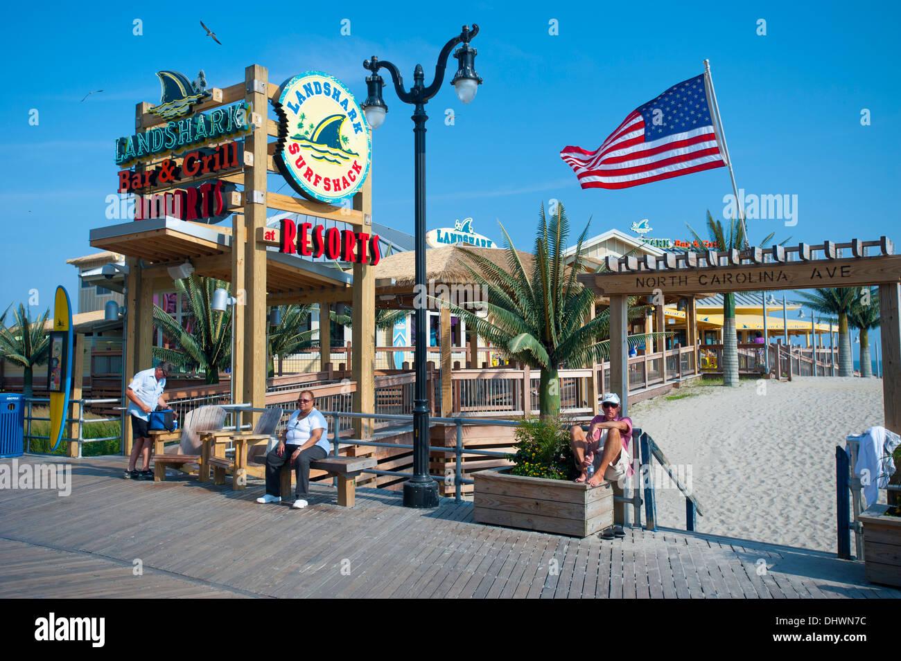 Usa America New Jersey Nj N J Atlantic City Boardwalk