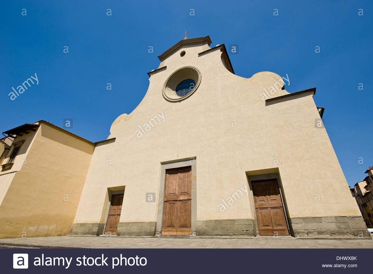 santo spirito church,florence,tuscany - Stock Image