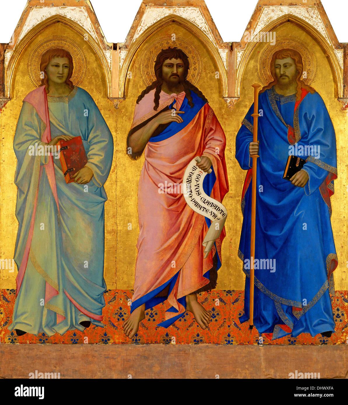 The Three Saints - by Nardo di Cione, 1365 - Stock Image