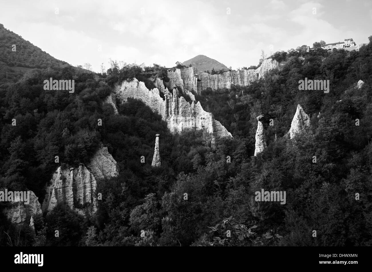 Italy. Natural pyramids of Zone. - Stock Image