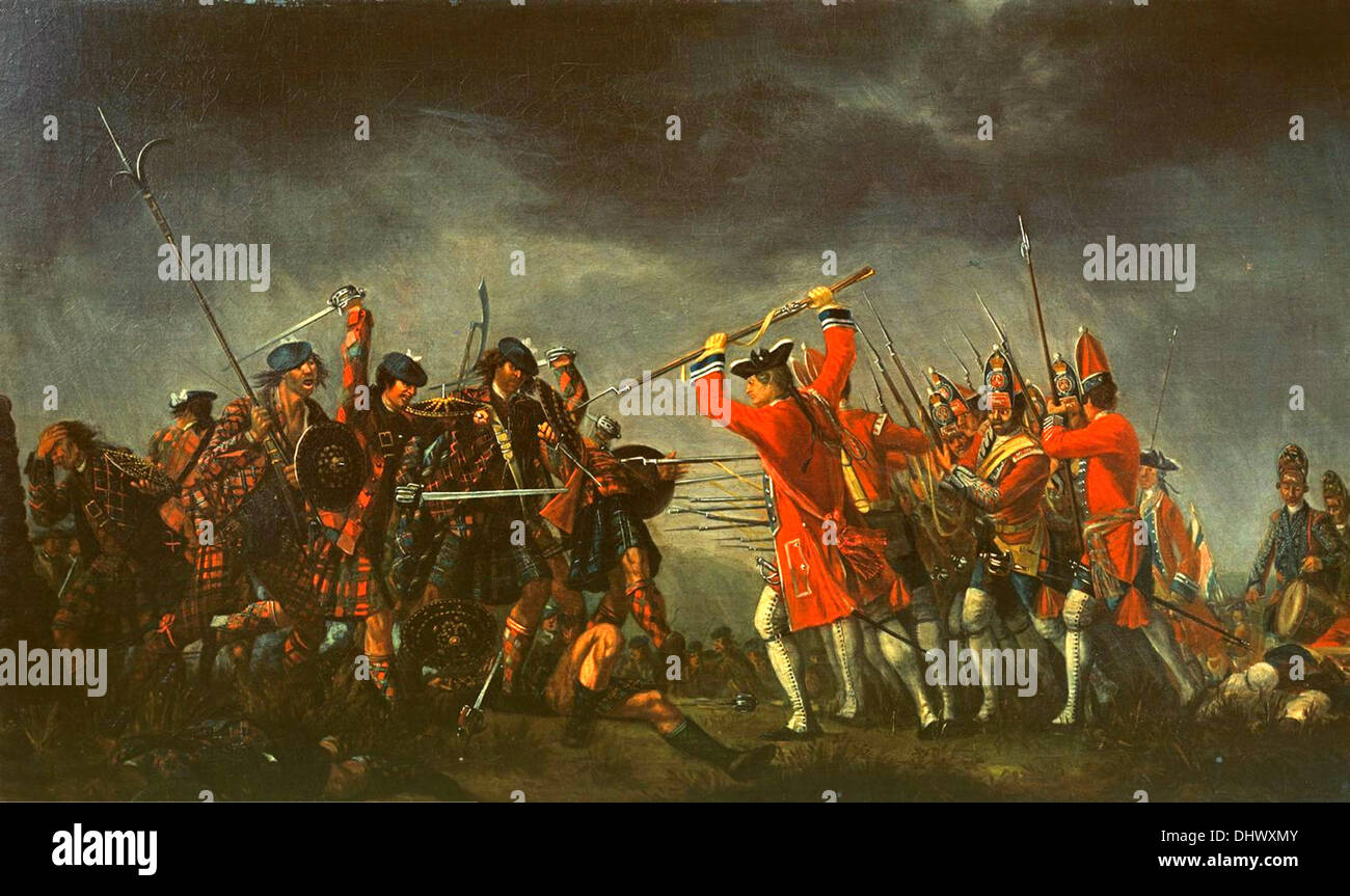 The Battle of Culloden - Stock Image