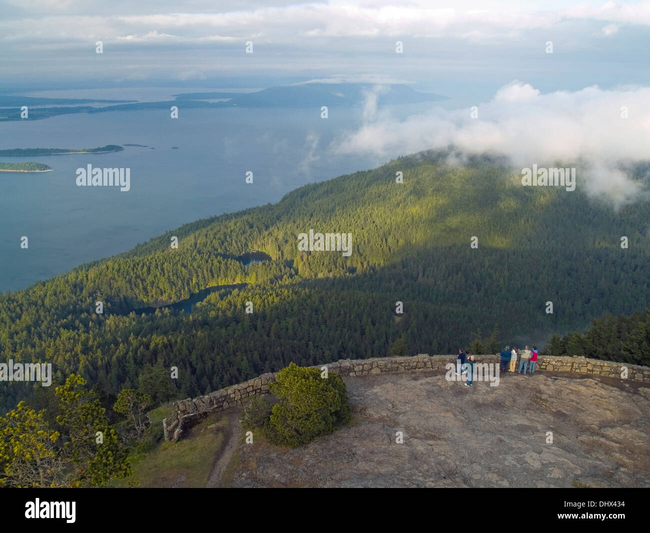 A view of Washington State from Mt.Constitution,Orcas Island - Stock Image