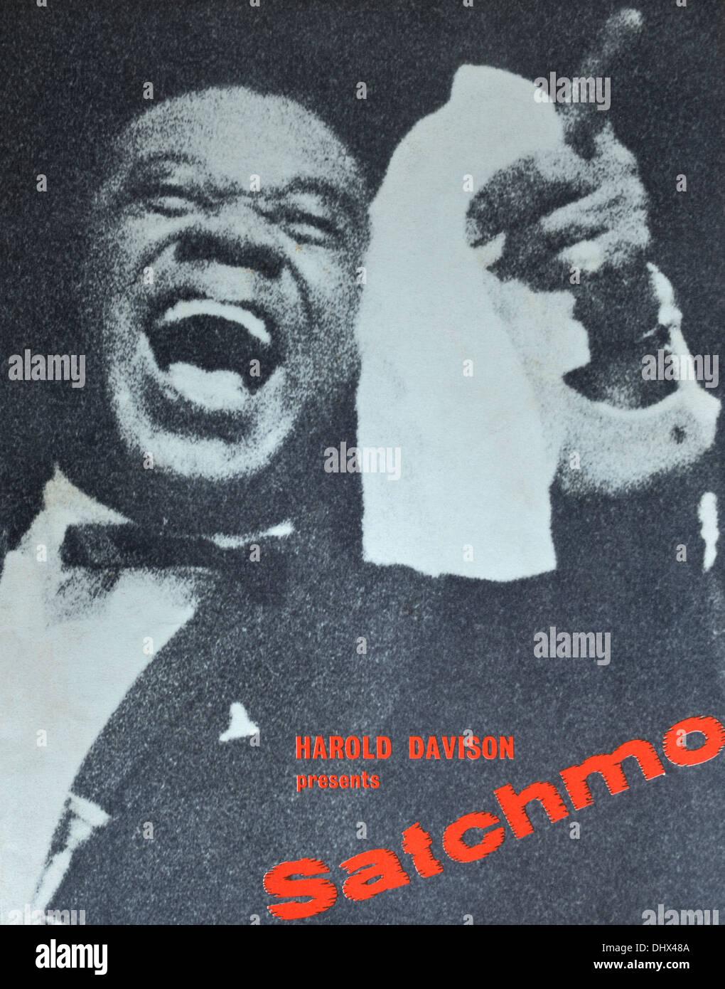 Jazz concert programme. Harold Davison presents Satchmo. British Tour 1962. - Stock Image