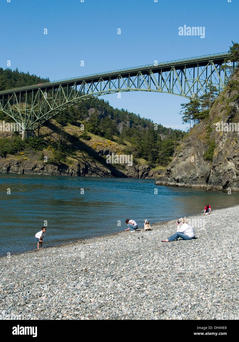 Deception Pass Bridge,Washington State - Stock Image