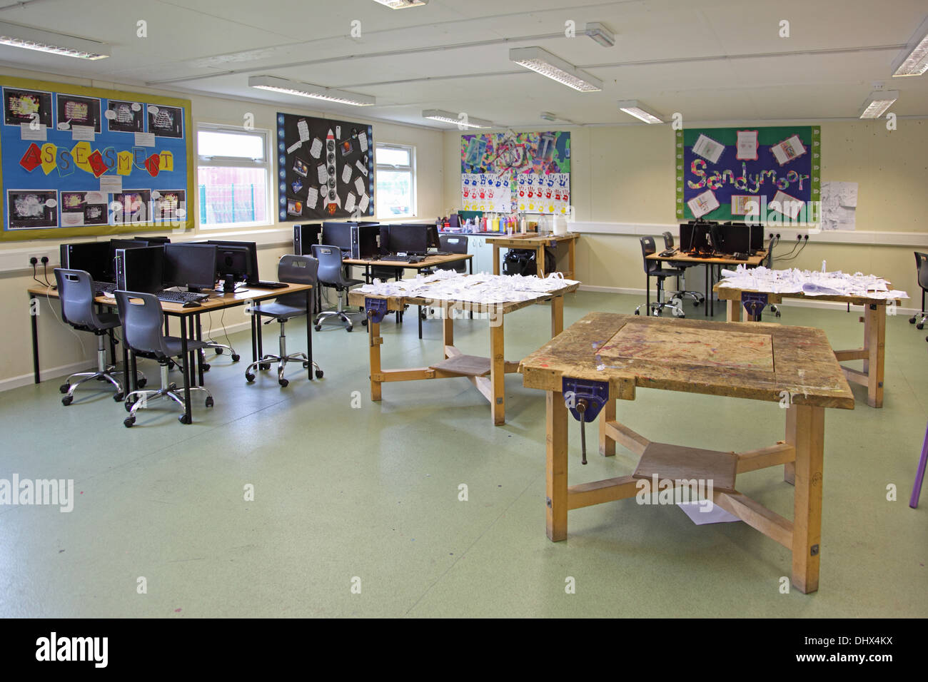 The Art Craft And Technology Teaching Room In A New Free School