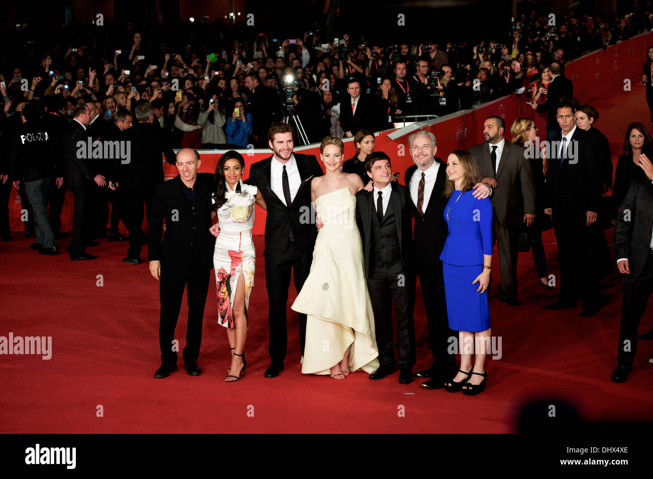 Rome Italy 14th Nov 2013 Cast Of The Hunger Games Catching