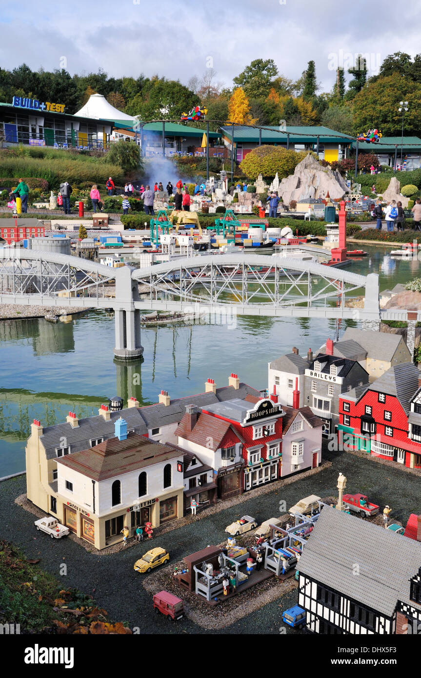 Miniland at Legoland, Windsor, UK - Stock Image