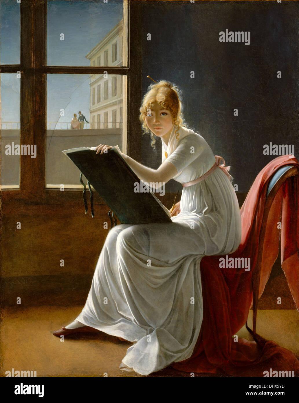 Charlotte du Val d'Ognes - by Marie-Denise Villers, 1801 - Stock Image