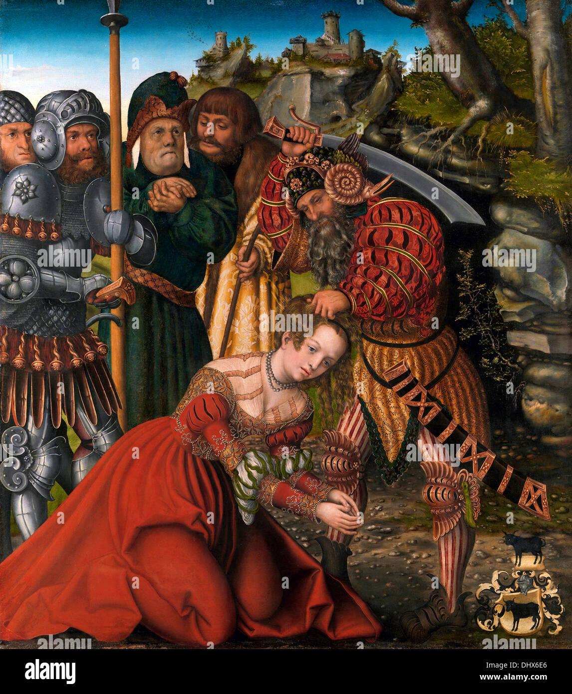 The Martyrdom of Saint Barbara - by Lucas Cranach the Elder 1510 - Stock Image
