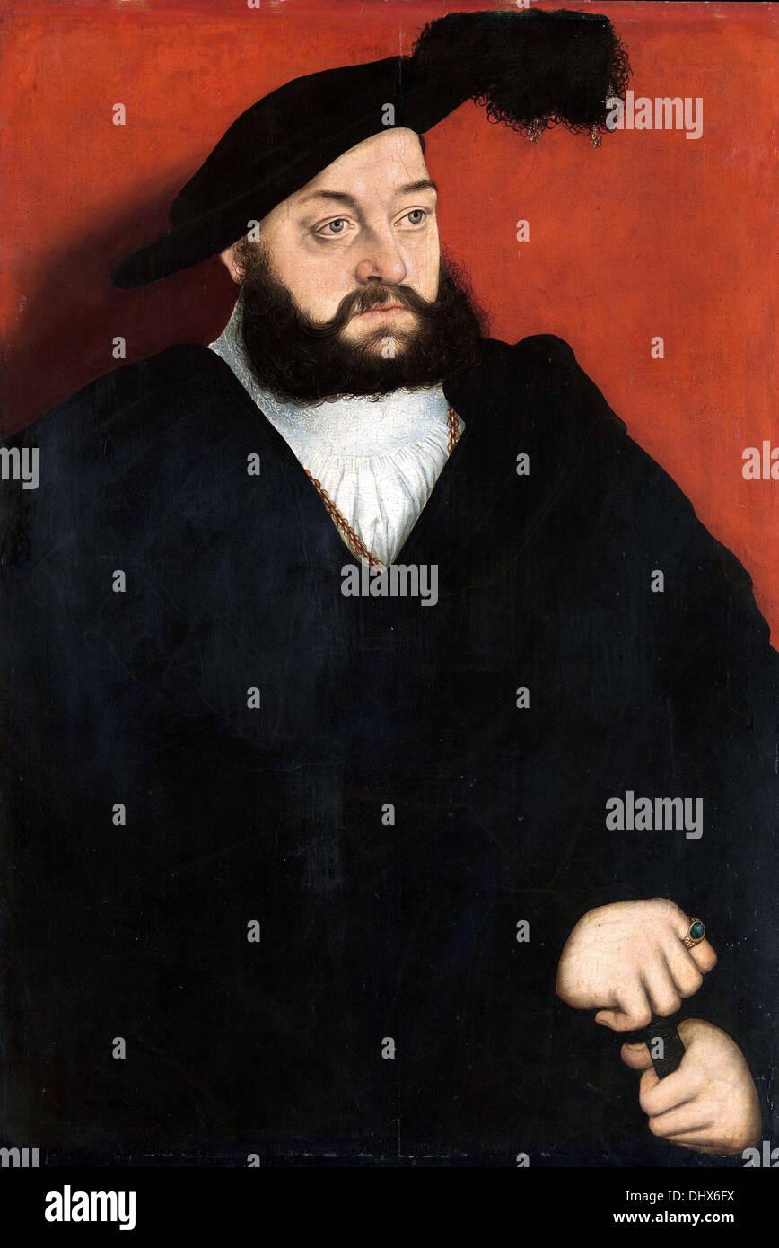 Johann, Duke of Saxony - by Lucas Cranach the Elder, 1537 - Stock Image