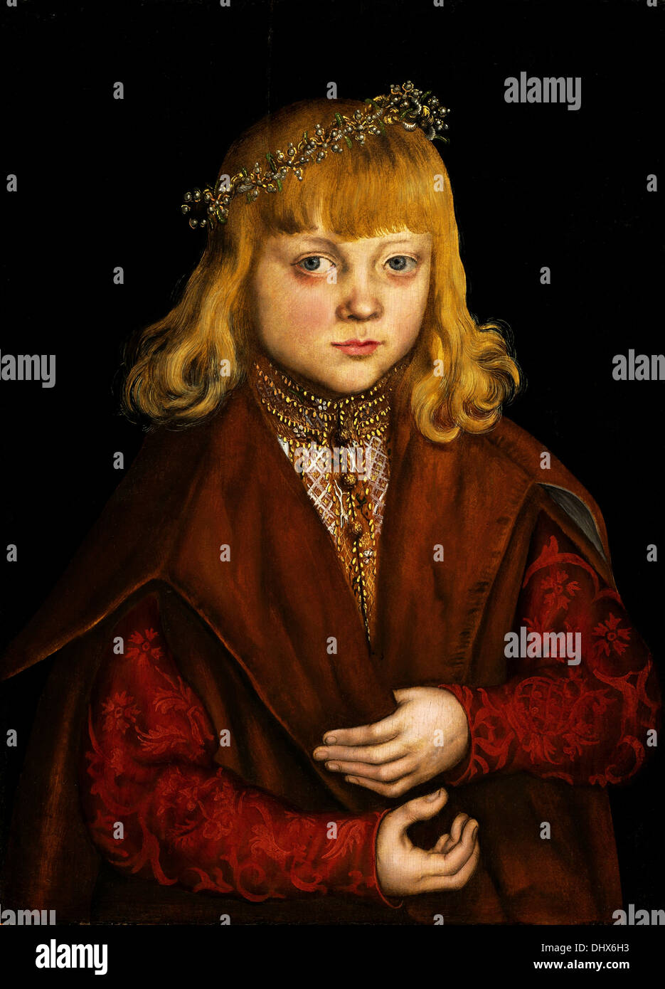A Prince of Saxony - by Lucas Cranach the Elder, 1517 - Stock Image