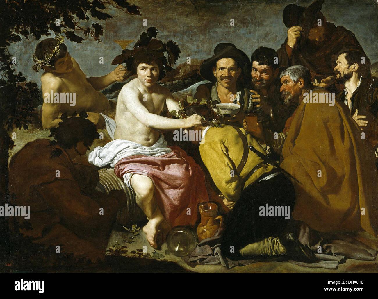 Los borrachos - by Diego Velázquez, 1629 - Stock Image