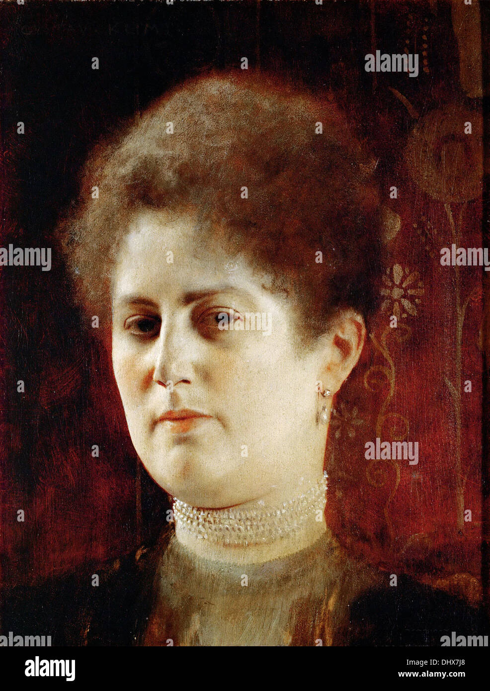 Portrait of a Lady - by Gustav Klimt, 1894 - Stock Image