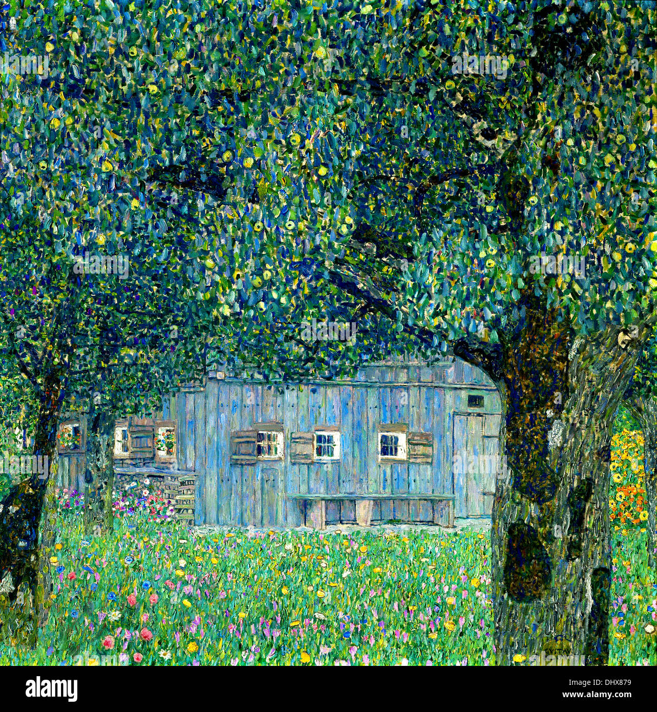 Country House on Attersee Lake, Upper Austria - by Gustav Klimt, 1914 - Stock Image