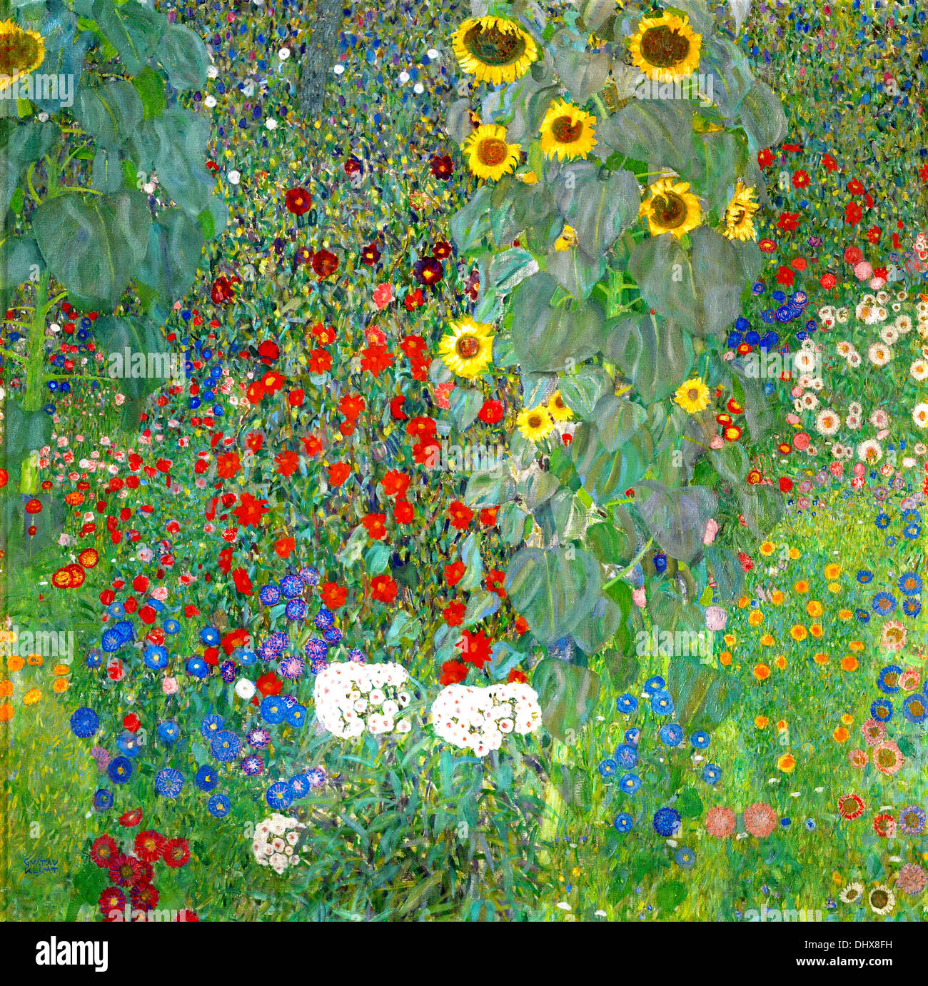 Charmant Farm Garden With Sunflowers   By Gustav Klimt, 1912   Stock Image