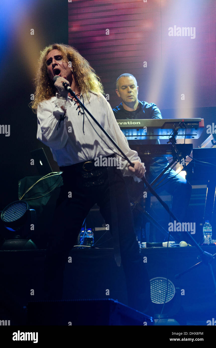 Nad Sylvan and Roger King during the Genesis Revisited tour at Liverpool Philharmonic in England - Stock Image