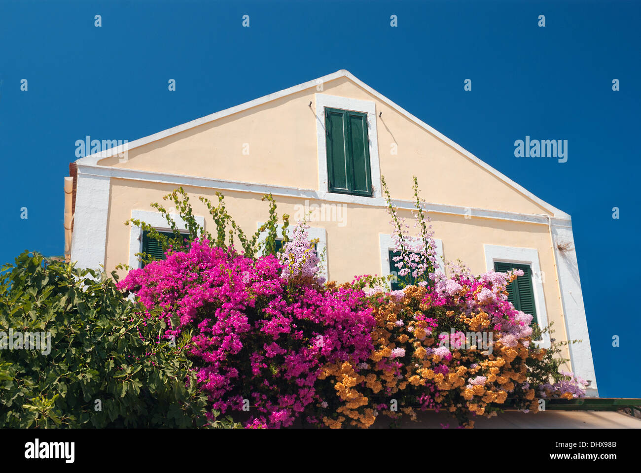 Fiscardo on the Island of Kefalonia in Greece - Stock Image