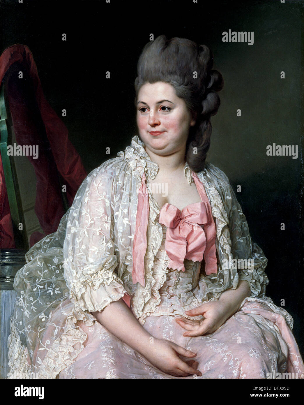Madame de Saint-Maurice - by Joseph Siffred Duplessis, 1776 - Stock Image