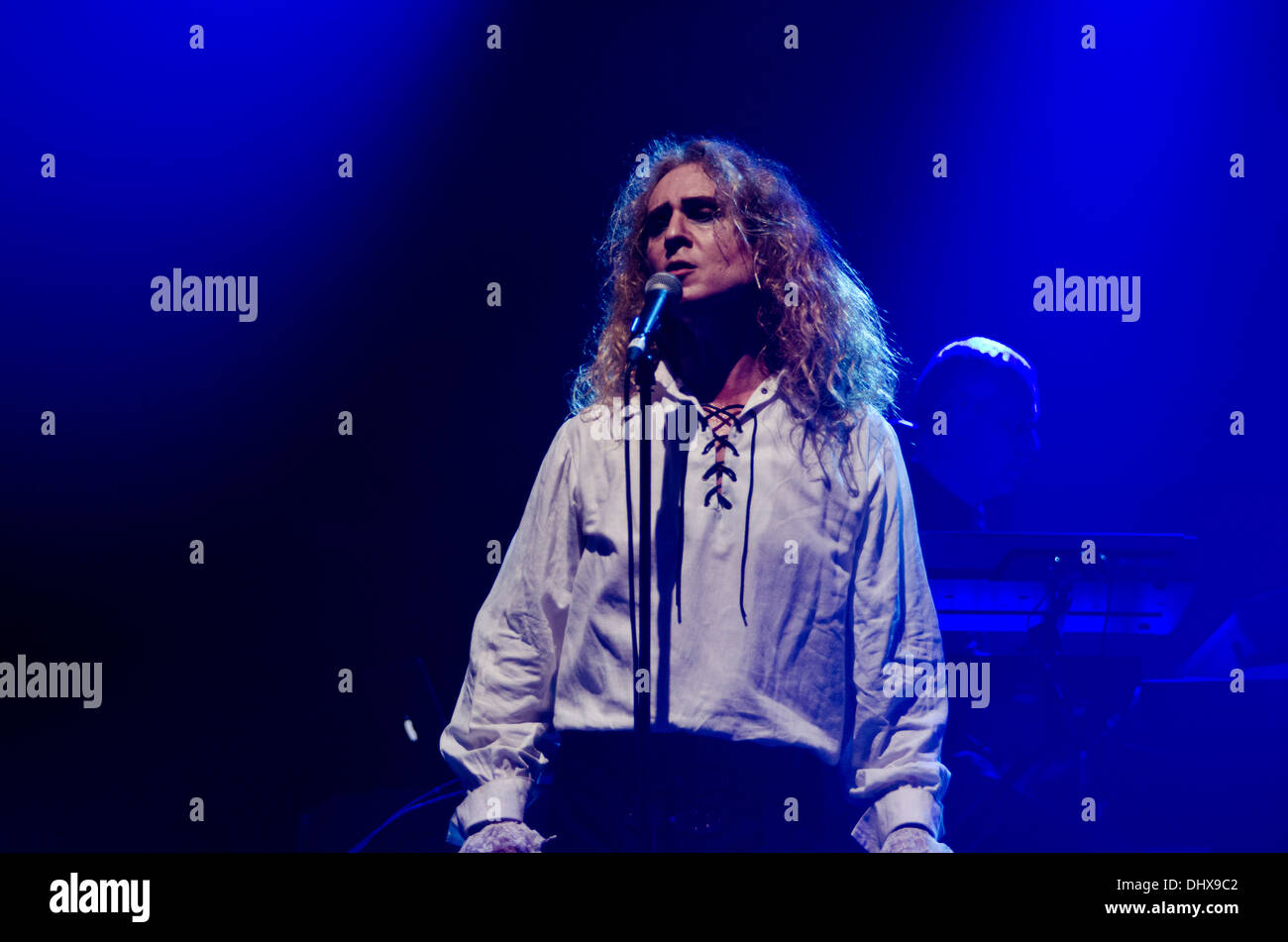 Nad Sylvan playing with Steve Hackett during the Genesis Revisited tour at Liverpool Philharmonic in England - Stock Image