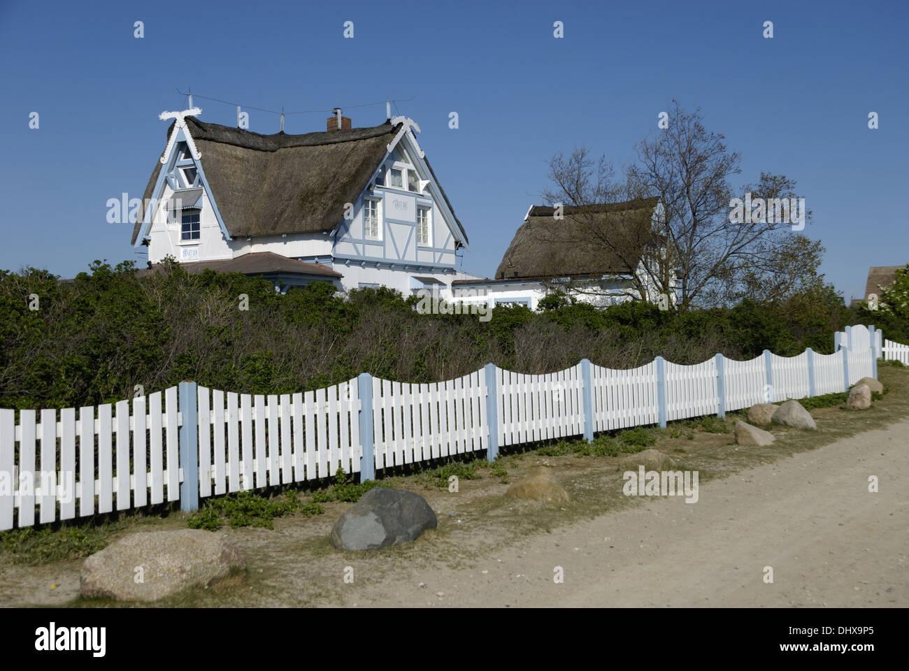 Houses on Graswarder in Heiligenhafen Stock Photo