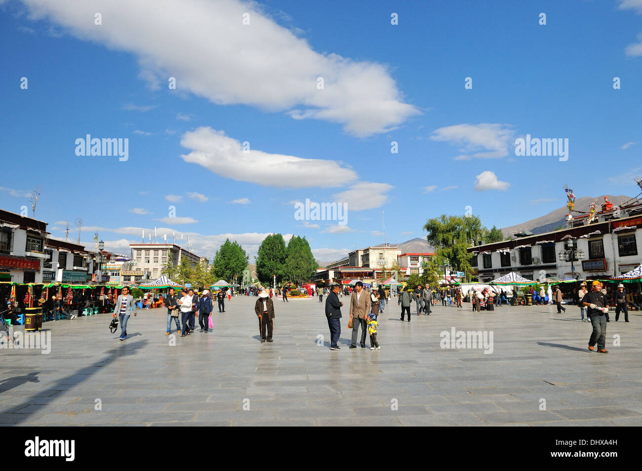 Barkor - Marketplace Lhasa Tibet China - Stock Image