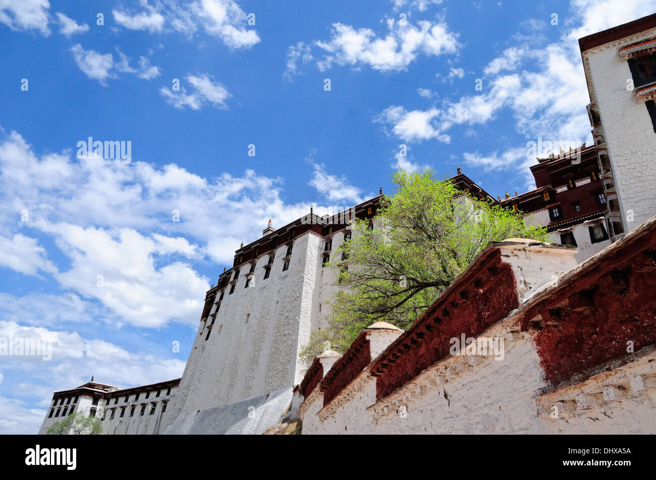Potala Palace in Lhasa Tibet in the sky Stock Photo