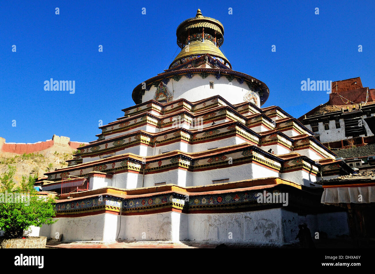 Tsuklahang Temple Gyantse Tibet China - Stock Image