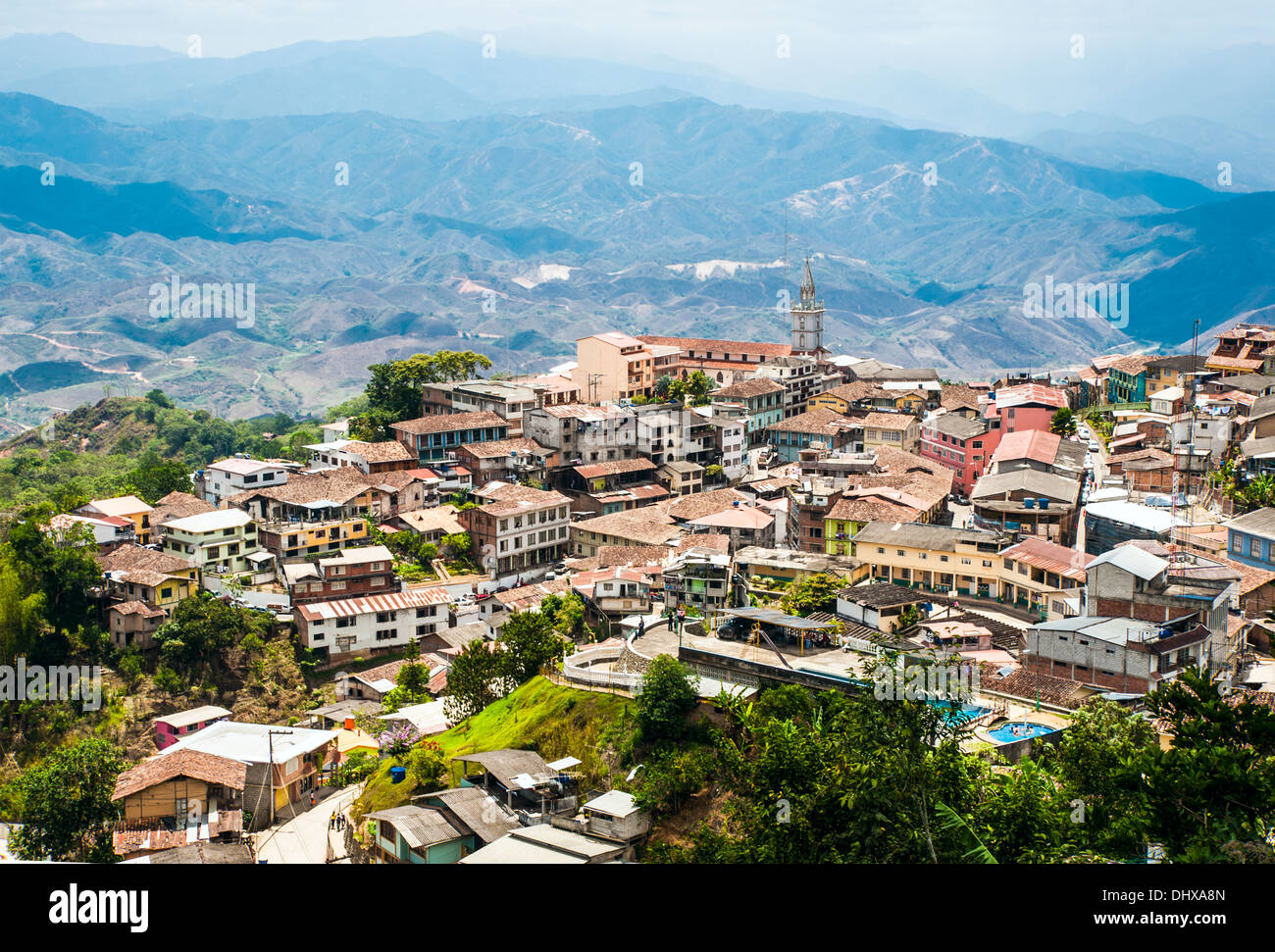 Zaruma, Andes, Ecuador - Stock Image